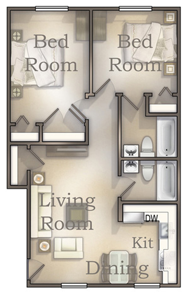 The Quarterpath Affordable floor plan